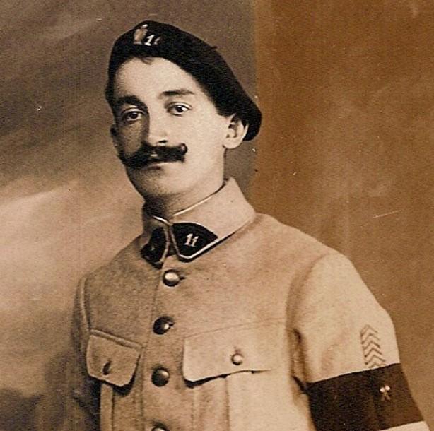 Un camarade du 11e Génie ; photo datée du 16 octobre 1918 ; signée « Berlioz » ? (Doc. Jean Perroud, archives familiales)