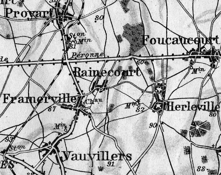 Proyart, Foucaucourt, Rainecourt, Herleville, Framerville (site pages14-18)
