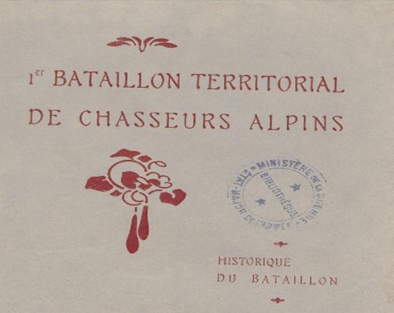 HISTORIQUE 1erBtn territorialChasseurs