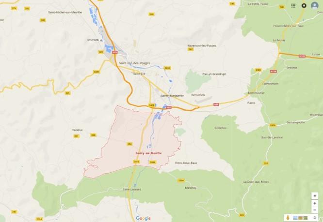 Route de St-Léonard a St-Dié w