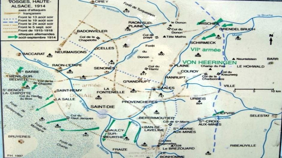 Vosges et Haute-Alsace du 13 août au 5 septembre 1914 (site transvosges.com)