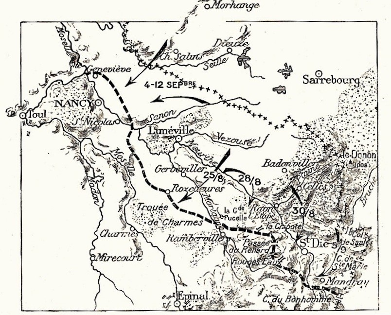 combats du 27 août 1914 autour de Saint-Dié