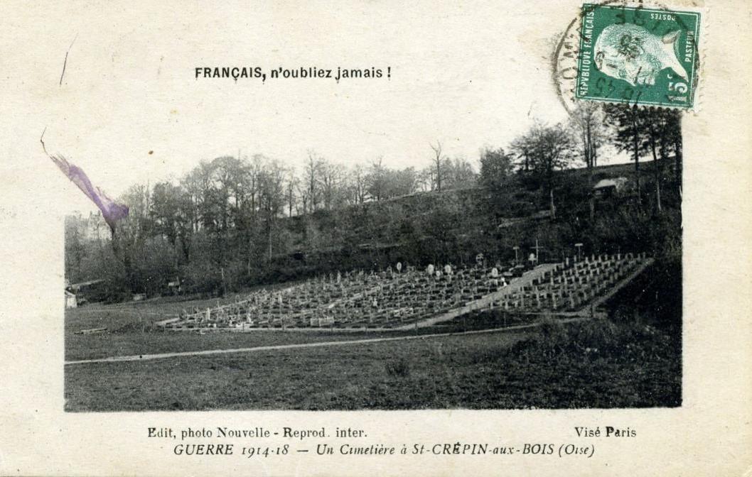 Un cimetière à St-Crépin-aux-Bois dans l'Oise (site communes.com/picardie/oise)