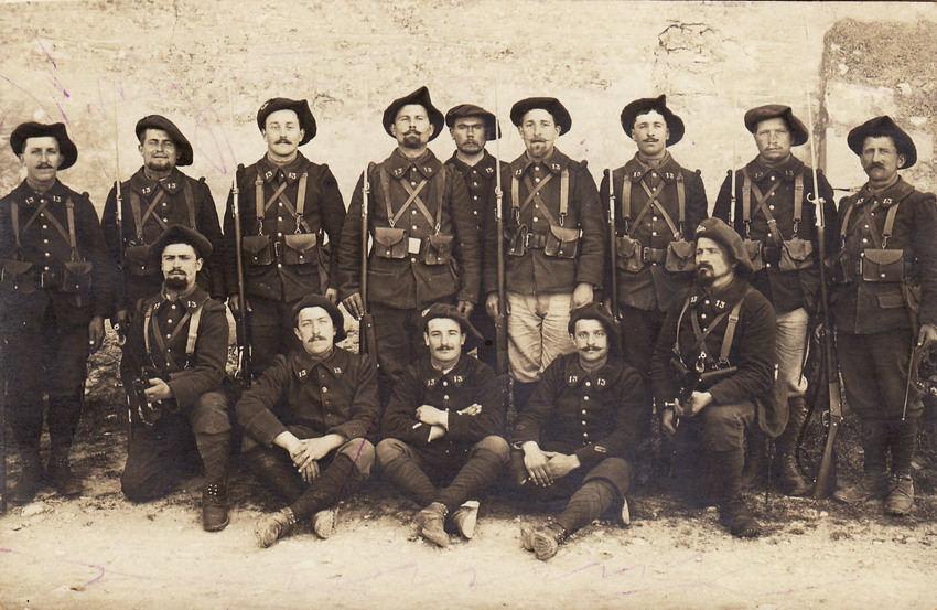 Quelques chasseurs du 13e BCAP (site cparama.com)