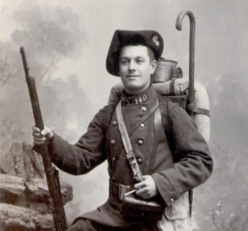 Un soldat du 140e RI (site lagrandeguerre.cultureforum.net )
