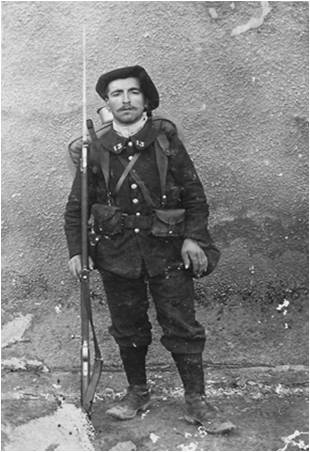 Un chasseur du 13e BCAP, André Mermet (site jpierre.dagandagand.free.fr)