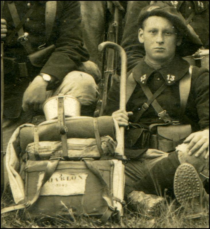 Un chasseur du 13e BCAP, Jean Charlon (site combattant.14-18)
