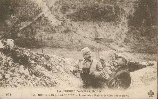Notre-Dame de Lorette : tranchées Mathis et côte des Melons (site collateraux-1914.1918)
