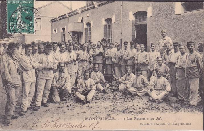 Montélimar. « Les patates » au 52e RI (site gw.geneanet.org)