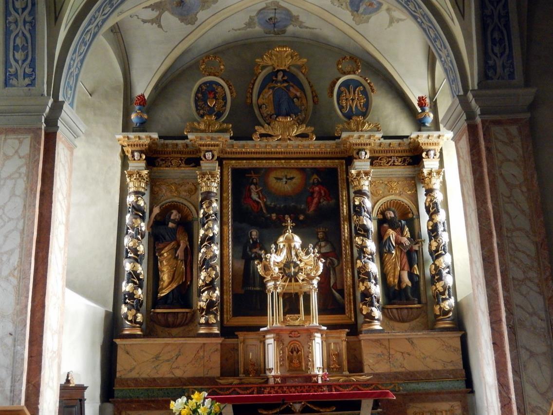 Retable de l'église St-Pierre-St-Paul, Passy (cliché Bernard Théry, mars 2016)