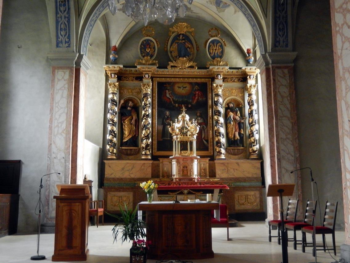 Chœur et retable de l'église St-Pierre-St-Paul, Passy (cliché Bernard Théry, mars 2016)