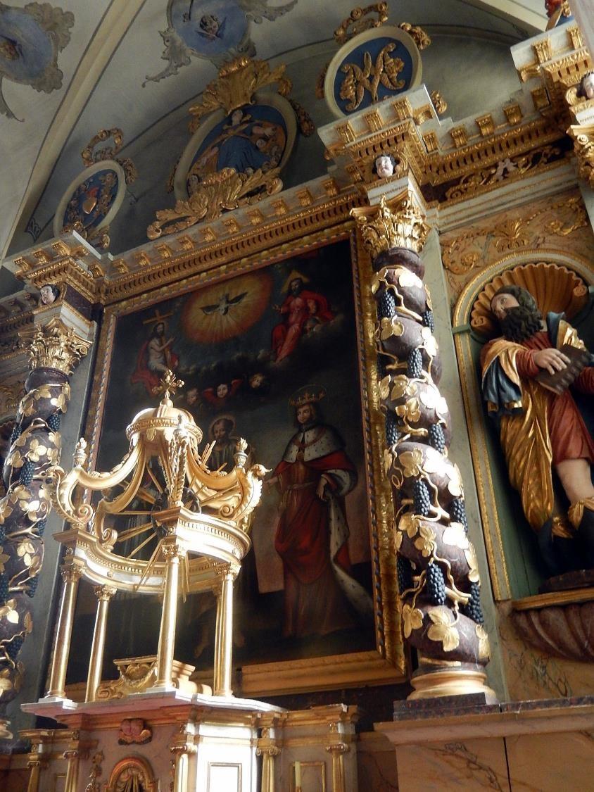 Retable et couronnement de l'église St-Pierre-St-Paul, Passy (cliché Bernard Théry, mars 2016)