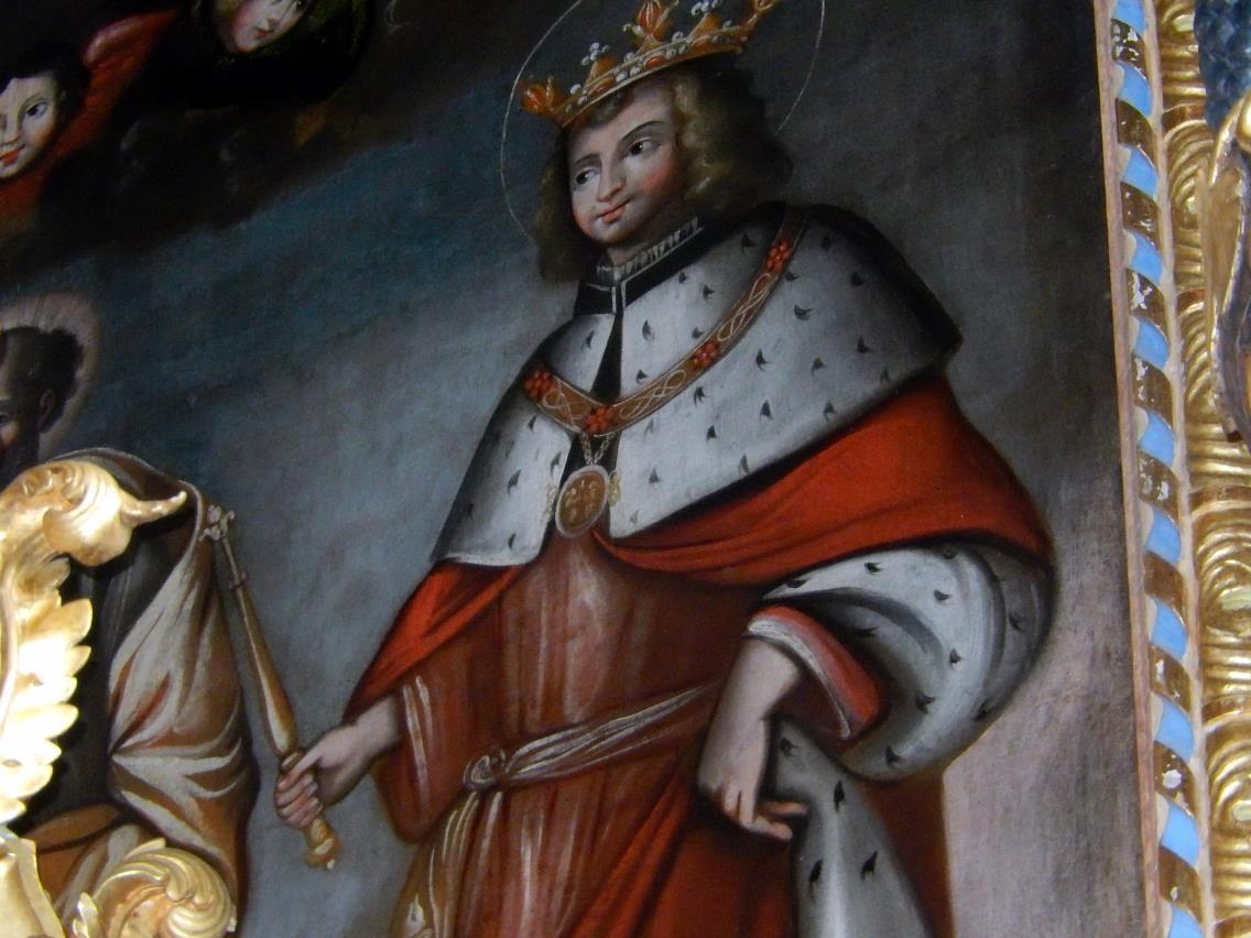 Toile du retable de l'église St-Pierre-St-Paul, Passy : le Bienheureux Amédée IX, duc de Savoie , 1435-1472 (cliché Bernard Théry, mars 2016)