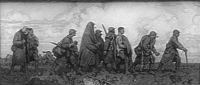 Les Vainqueurs, photographie de Georges Paul Leroux (1877-1957) exposée au Salon des Artistes Français de 1919 (site biblogotheque)