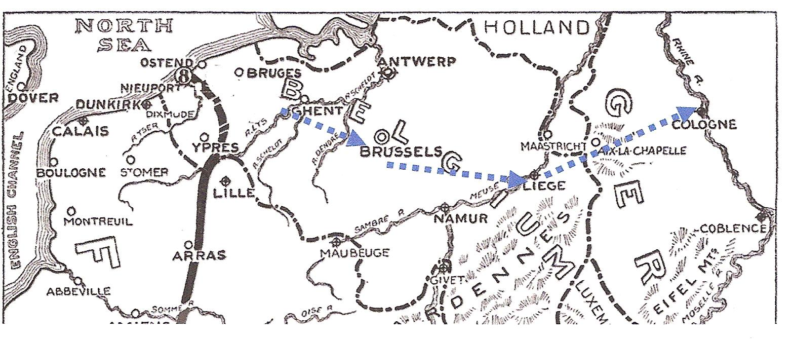 marche vers Rhin