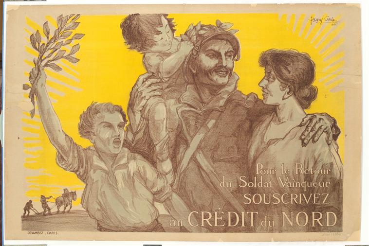 Jacques Garaud « pour le retour du soldat vainqueur ». 1918 (site biblogotheque)