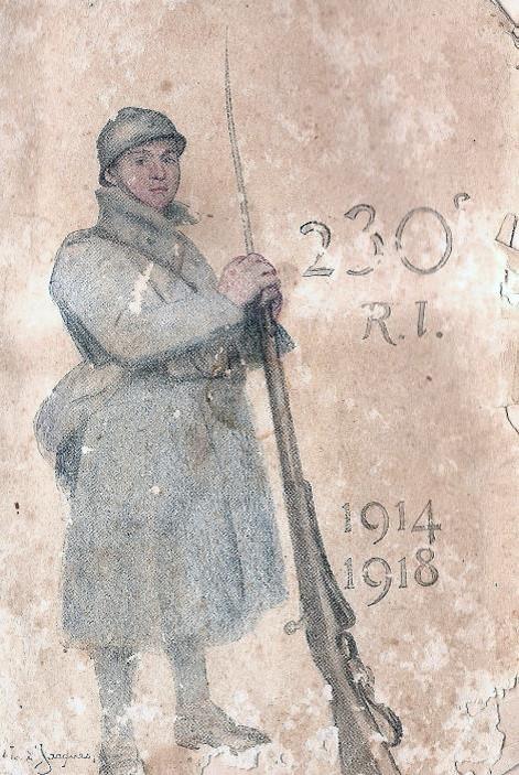 Le 230° RI d'Annecy, constitué en majorité de Haut-Savoyards a perdu 1 392 hommes durant la guerre (site amisduvaldethones.fr)