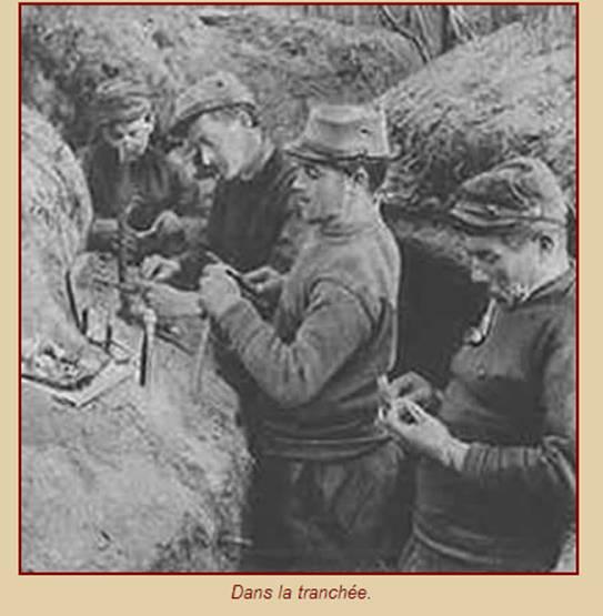 Travaux dans les tranchées (site 1914-1918.be)