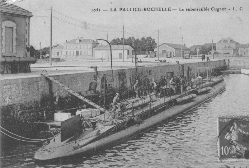 Le submersible Cugnot à La Pallice-Rochelle (site 14-18-marine-livredor.wifeo.com)