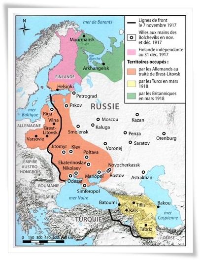 Front russe en 1917 (site guerre1418.org)
