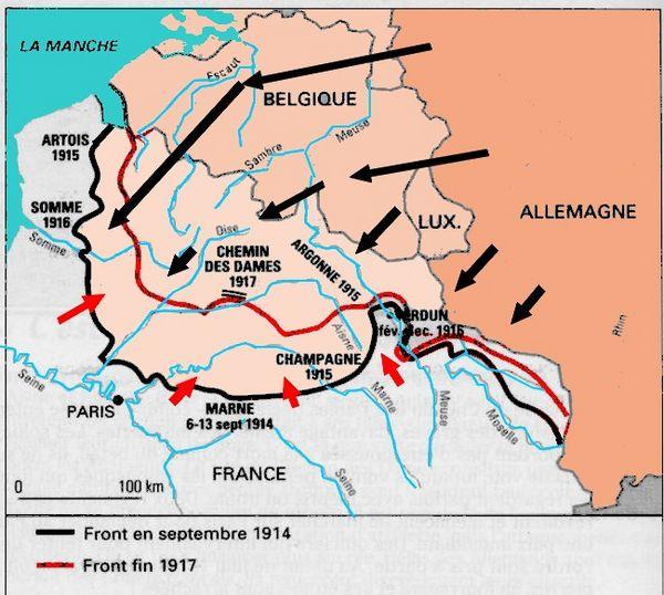 Le front ouest fin 1917 (Site pelissanneautrement.com)