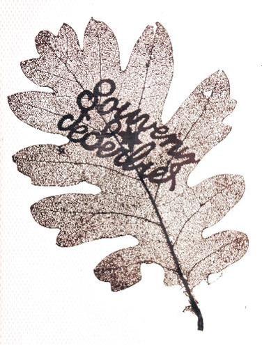 """Feuille de chêne « sculptée » par le Haut-Savoyard Alfred Laperrière à Salonique pendant la Grande guerre : """"Souvenir de Serbie"""" (Doc. Jeannette Lassauce, Passy, les Soudans)"""