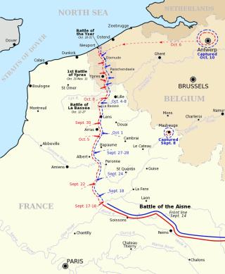 La course à la mer (Wikipedia, art. Bataille de l'Aisne)