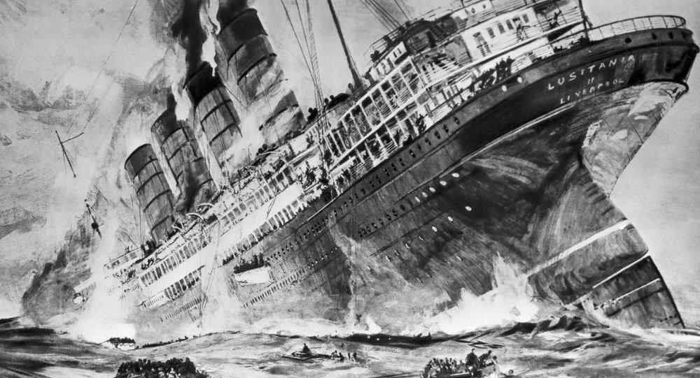 Torpillage du Lusitania par le sous-marin allemand U-20 (site fr.sputniknews.com)