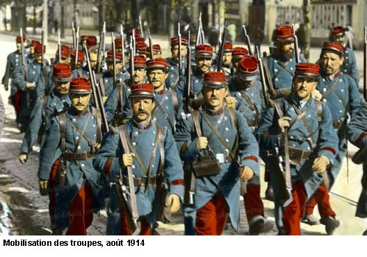 Mobilisation des troupes en 1914 (site herodote.net)