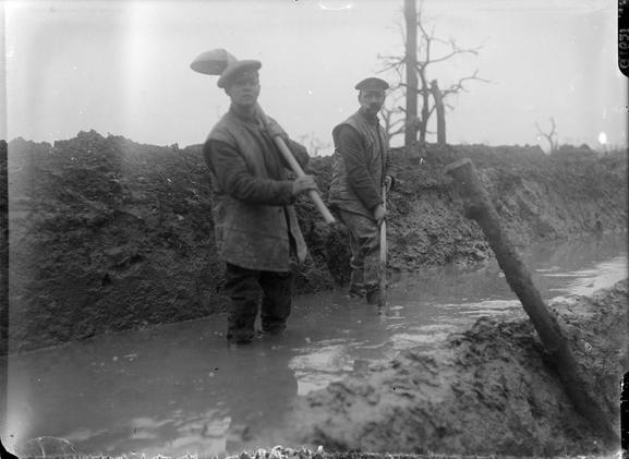 The battle of the Somme, july-november 1916 (Site paysagesenbataille.be, page boues infernales du front)