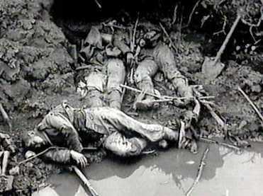 Cadavres et trou d'eau à Verdun (site Internet)