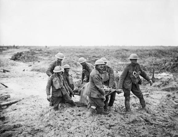 The battle of Passchendaele, july-november 1917 (Site paysagesenbataille.be, page boues infernales du front)