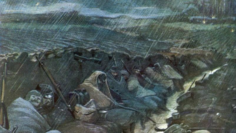 La pluie dans les tranchées est la même pour tout le monde (site la-gazette-de-danielle.over-blog.com)