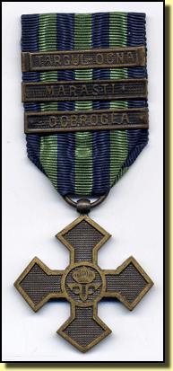Avers de la Médaille commémorative roumaine (Site medailles1914-1918.fr)