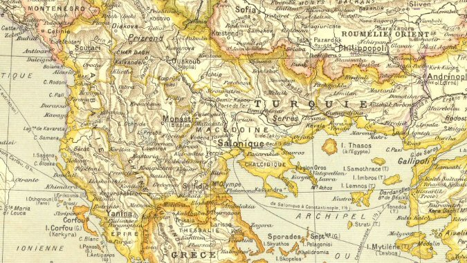 Carte des Balkans en 1910 (site mediatheque-patrimoine.culture.gouv.fr)