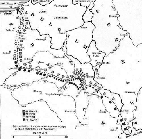 Situation de Verdun sur le front ouest en janvier 1916 (site carlpepin.com)