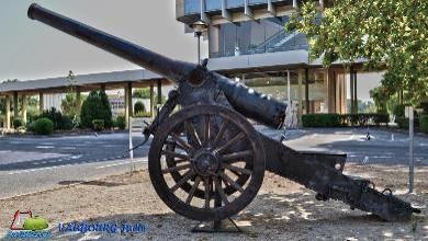 Canon de 155 Long modèle 1877, musée de l'artillerie à Draguignan (site fortiffsere.fr)