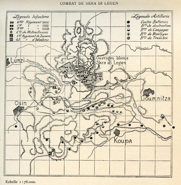 Combat de Skra-di-Legen en mai 1918 : Osin et Koupa (site pages14-18.mesdiscussiosn.net, artillerie colonial, sujet 11018)
