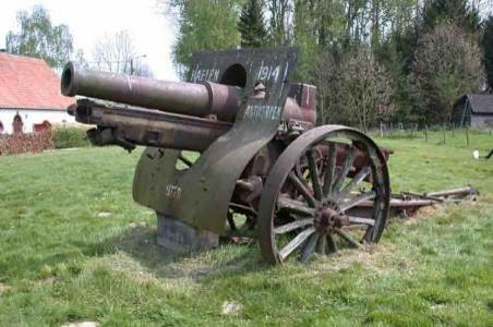 Canon de 155 court Scheider modèle 1917
