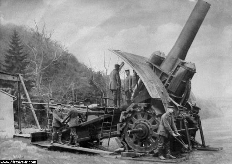 Artillerie lourde allemande (site histoire-fr.com)