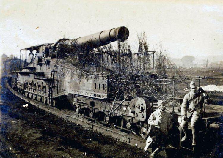 Artillerie française lourde sur voie ferrée (site cndp.fr/crdp-reims)