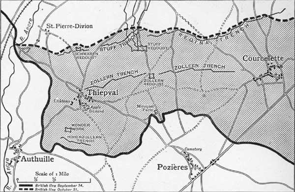 Alentours de Thiepval, 14 septembre 1916 (Source Internet)