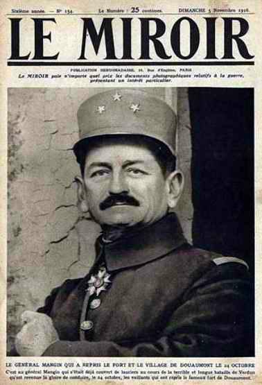 Mangin dans Le Miroir du 5 novembre 1916 (site 87dit)