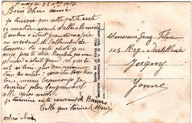 5 1916 12 23 carte de marie à felix w