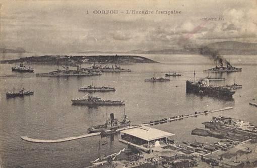 L'escadre française à Corfou (site hobbiesdejp.free.fr)