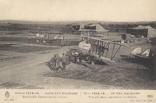 En septembre 1916, l'escadrille C. 389 s'implante à Boresnica entre le lac d'Ostrovo et Florina (site hobbiesdejp.free.fr)