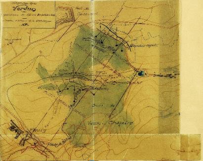 JMO du 299e RI p. 74 CARTE de VERDUN