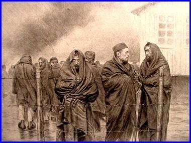 "Georges Bertin Scott 1873-1942 France ""Prisonniers français, 1914"" (site peinturesetpoesies.blog50.com)"