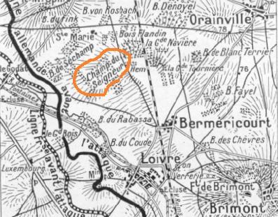 Loivre, Berméricourt, Brimont et le Champ du Seigneur (site sapigneul.superforum.fr)