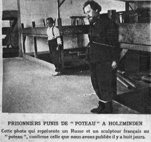Prisonniers punis de « poteau » au camp de Holzminden (site racontemoi1418.fr)